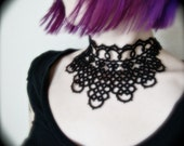 Tatted Collar Choker Necklace - Queen Of The Nile