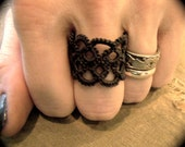 Tatted Lace Ring - Unwoven