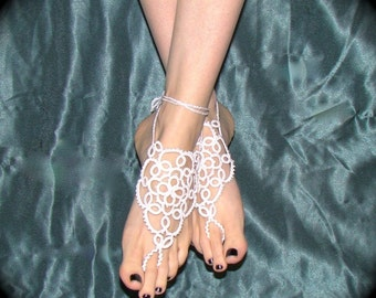 Tatted Barefoot Sandals - The Bride's Feet