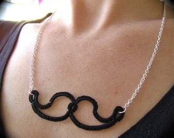 Tatted Mustache Necklace - Incognito