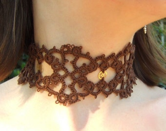 Tatted Choker Necklace - Gears Of Grace