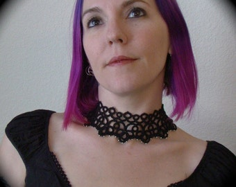 Tatted Studded Lace Choker Necklace - The Other Woman
