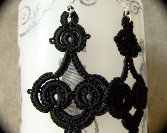 Tatted Lace Earrings - Whorls