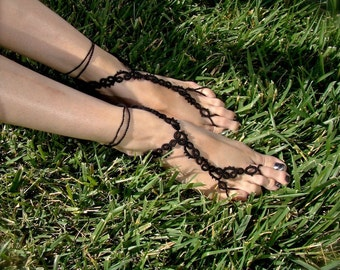 The Vine - Tatted Lace Barefoot Sandals