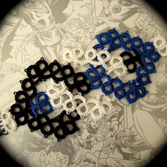 Tatted Lace Cuff Bracelet - Interwoven - Superheroes and Villains - The Fantastic Four