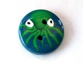 Octopus Handmade Polymer Clay Button