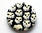 Pile o' Skulls Handmade Polymer Clay Button
