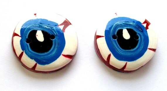 I See You Giant Eyeball Handmade Polymer Clay Buttons