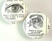 Eyeball Pinback Button Set