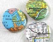 Custom Map Pinback Buttons - Choose a map