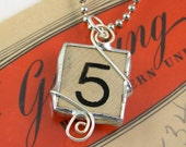 Number 5 Pendant