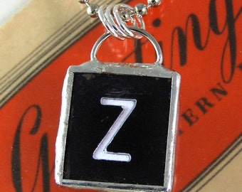 Letter Z Pendant Necklace