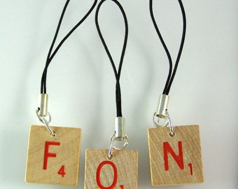 Scrabble Zipper Pull or Cell Phone Charm