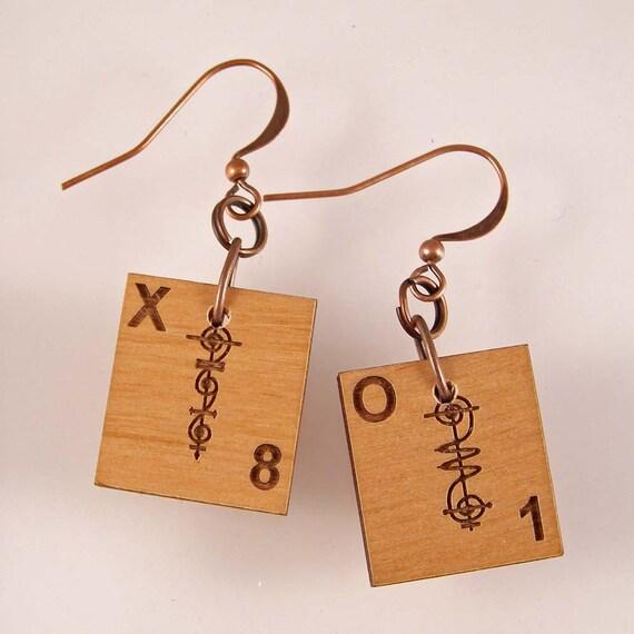 Vulcan Scrabble Earrings - Choose your letters