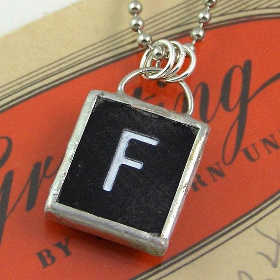 Letter F Pendant Necklace