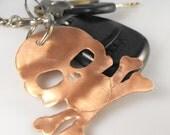 skull and crossbones keychain large skull tag