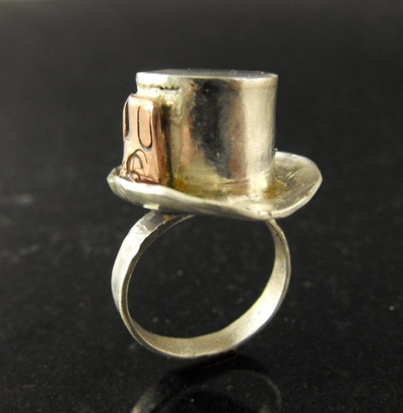 Mad Hatter in Reverse sterling ring