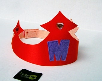 1 Custom Princess Prince Crown with Childs Initial