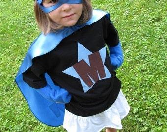 Superhero Cape Set CapeTee Mask and Gloves Princess Costume