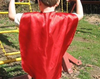 Kids Superhero cape Blank Party Favor Capes  you choose the color