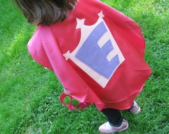 Superhero Kid Cape Princess Cape and a princess crown Childrens Capes Custom