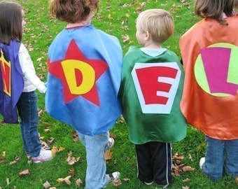 4  Superhero Cape  Princess Superhero Kid Capes Personalized Customize each one superhero favor