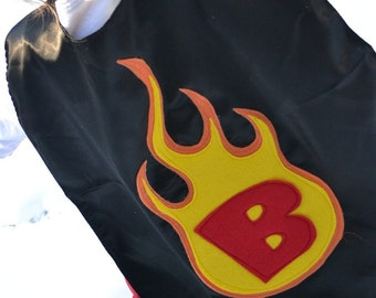 Superhero Cape flame Costume  Capes Custom Personalized  Fire Kid