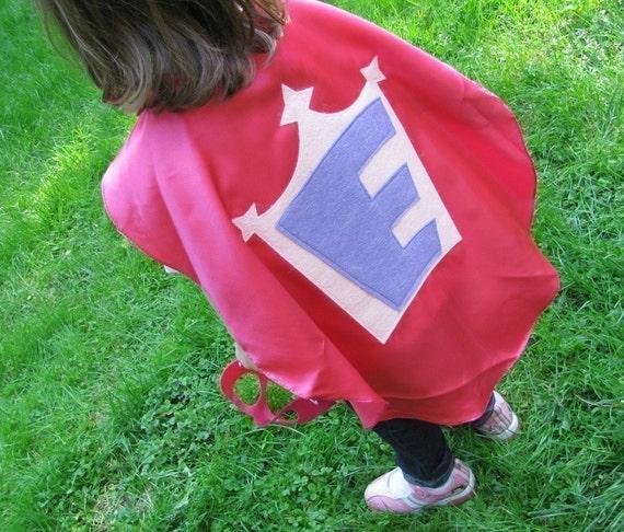 Superhero Kid Cape Princess Cape and a princess crown Childrens Capes Custom