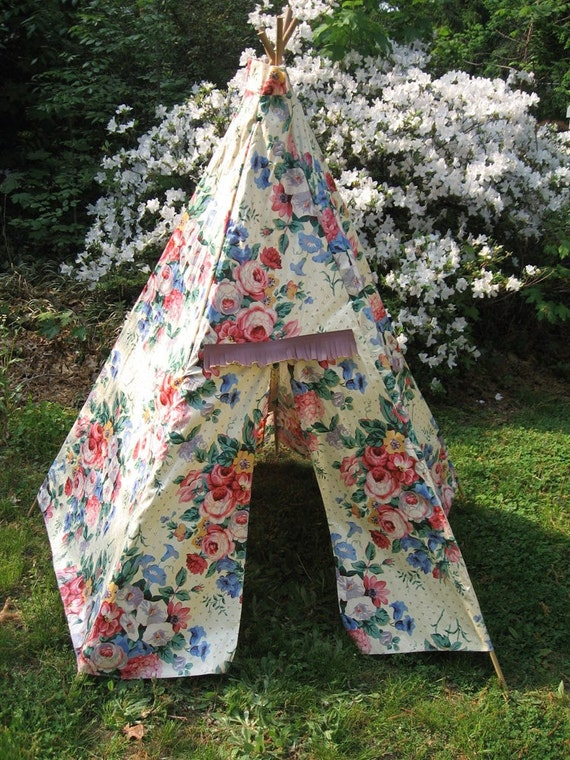 Kids Play Teepee Tent 6ft Tall