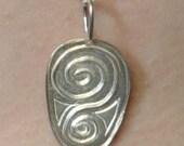Fine Silver Carved Pendant (E-00358)