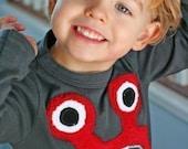 Red Bernard Monster Tee L/S sizes 2,4,6,8