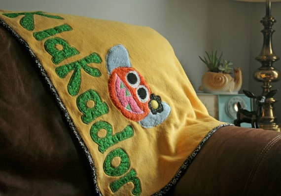 Personalized Monster Blanket - bigger than baby size for bigger kids