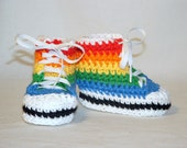 SALE Rainbow Sneaker Booties, size Small (6 month)