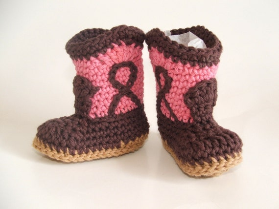 Chocolate Rose Cowgirl Booties, size Small (6 month)