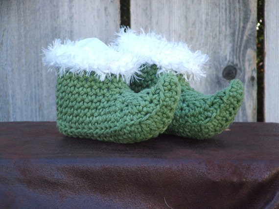 Green Santa Elf Boots, size Small (6 month)