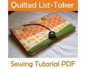 SEWING PATTERN - Quilted List-Taker (PDF Download)