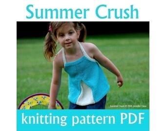 KNITTING PATTERN - Summer Crush (PDF Download)