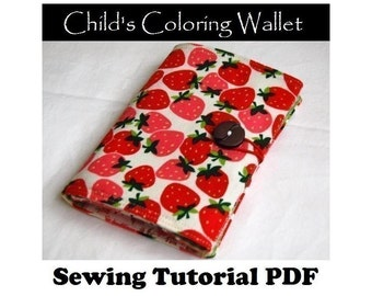 SEWING PATTERN - Child's Coloring Wallet (PDF Download)