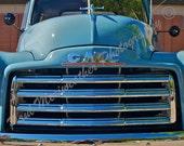 8 x 10 GMC Light Blue Classic Pickup Truck (free shipping)