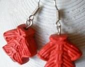 Red Oriental Jackets Earrings
