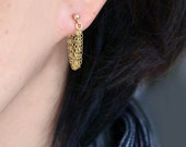 Gold Chain Earrings - Dainty, Delicate Gold-Filled Chains, Unique, Feminine, Everyday Jewelry