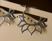Lotus Hoop Earrings - Simple Everyday Jewelry, Treat for Yourself or Birthday & Sweet 16 Gifts