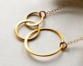 Crescent Necklace on 14K Gold-Filled Chain - Everyday Jewelry, Birthday, Anniversary & Mother's Day Gifts