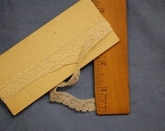 Vintage ecru lace