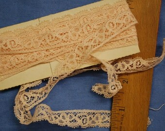 Soft pink vintage cotton lace