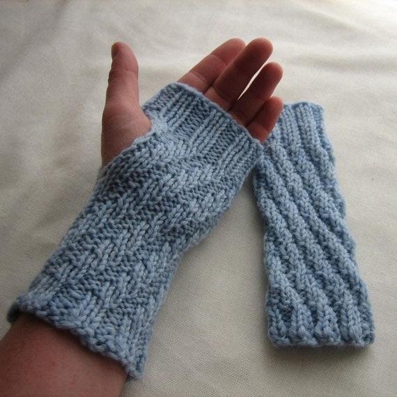 Fingerless Gloves - Baby Blue