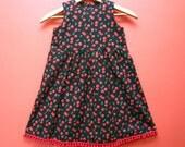 Cherry Pom Pom Party Dress Little Girls' 5T
