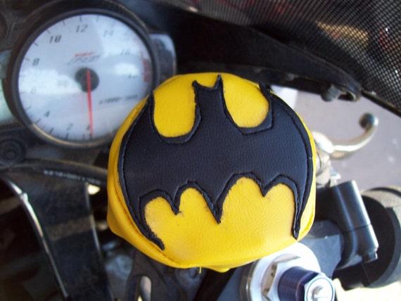 Batman inspired Motorcycle Brake fluid reservoir cover