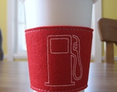 FILL 'ER UP Gocco-printed Reusable Coffee Sleeve
