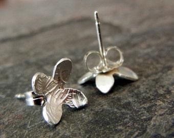 Flower Earrings - Small Silver Studs - Flower Studs - Flower Lover Gift - Gift for Her - Silver Studs - Silver Earrings